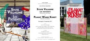 E invitation S.VILLAUME et PLAKAT WAND KUNST